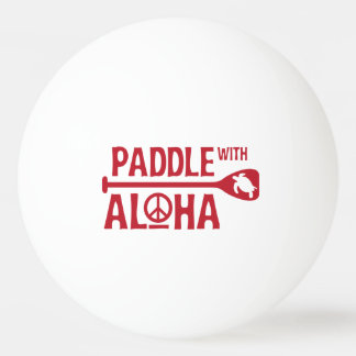 Paddle With Aloha - Ping Pong Ball - Red Turtle