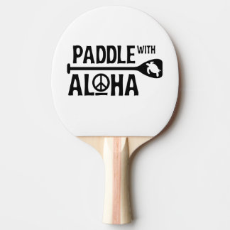 Paddle With Aloha -Ping Pong Paddle -Black Turtle