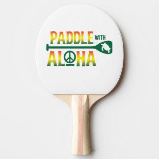 Paddle With Aloha -Ping Pong Paddle -Reggae Style