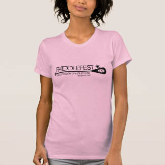 PADDLEFEST pink womens fitted tee