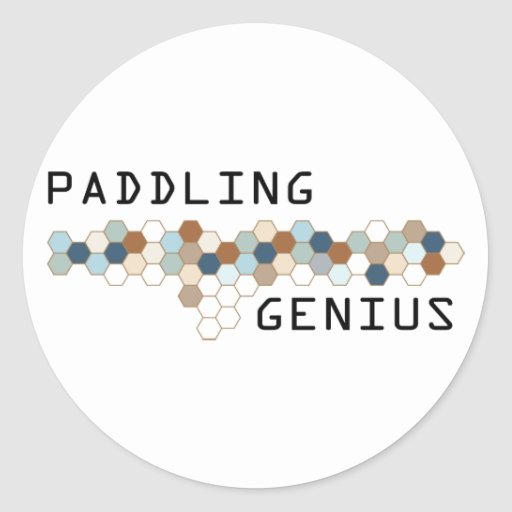 Paddling Genius Stickers
