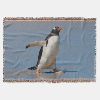 Paddling Gentoo Throw Blanket