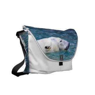 Paddling Polar Bear Messenger Bag
