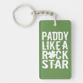 Paddy Like a Rock Star Double-Sided Rectangular Acrylic Keychain