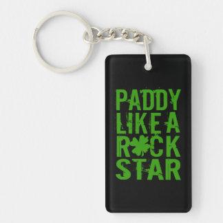 Paddy Like a Rock Star II Double-Sided Rectangular Acrylic Keychain