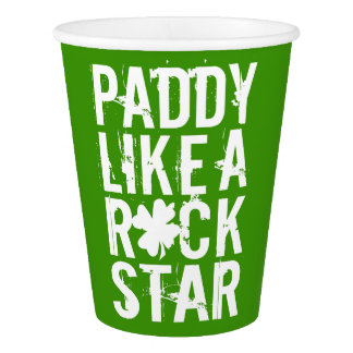 Paddy Like a Rock Star II Paper Cup