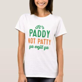 Paddy not Patty St. Patrick's Day shirt