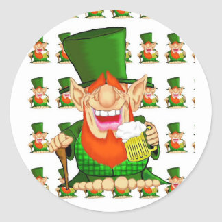 Paddy O'Party Classic Round Sticker