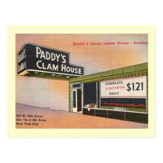 Paddy's Clam House, Retro, New York City Vintage Postcard
