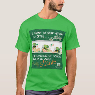 Paddy's Day Drinking Leprechaun Toasts Health T-Shirt