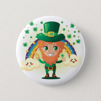 Paddy's Leprechaun 2 Inch Round Button