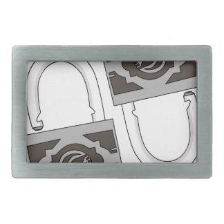 padlock rectangular belt buckles