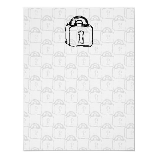 Padlock. Top Secret or Security Icon. Personalized Announcement