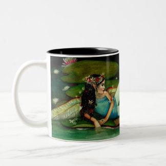 Padme, waterlily faerie by Kim Turner Two-Tone Coffee Mug