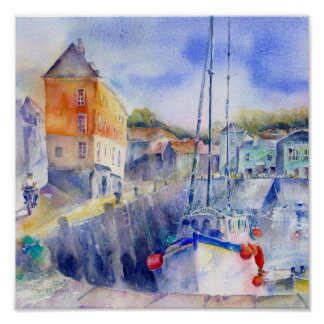 Padstow Habour Poster