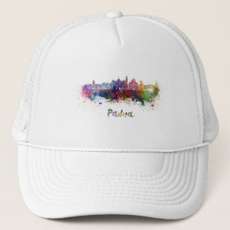 Padua skyline in watercolor trucker hat