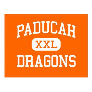 Paducah - Dragons - High School - Paducah Texas Postcard