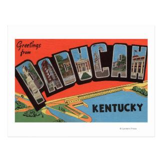 Paducah, Kentucky - Large Letter Scenes Postcard
