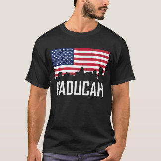Paducah Kentucky Skyline American Flag T-Shirt