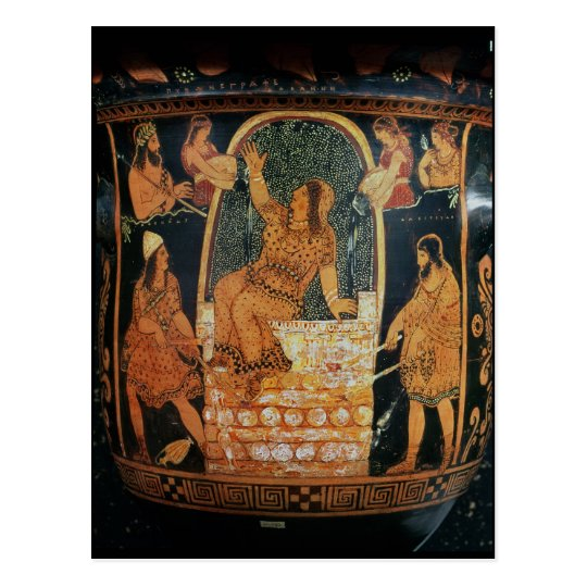 Paestan Redfigured 'bell-krater' Postcard