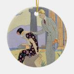 Paestum, 1924 (pochoir print) ceramic ornament