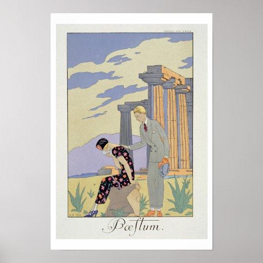 Paestum, 1924 (pochoir print) poster