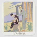 Paestum, 1924 (pochoir print) square sticker