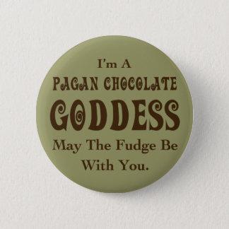 Pagan Chocolate Goddess 2 Inch Round Button