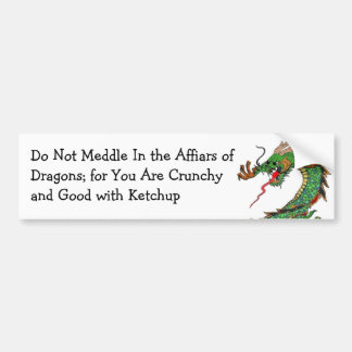 Pagan Dragon Bumper Sticker