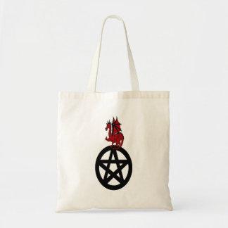 Pagan Dragon sitting on Pentacle Bag