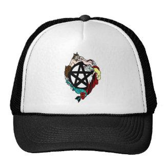 Pagan Elemental Faerie Pentacle Mesh Hat