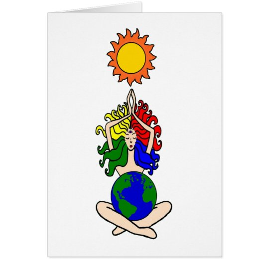 Pagan Elemental Sun Goddess Card