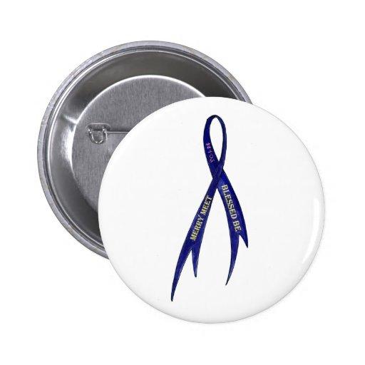 Pagan: Merry Meet / Blessed Be Ribbon Pin