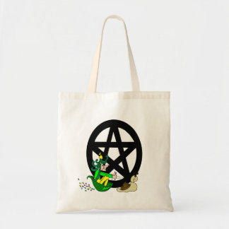 Pagan Pentacle and Faerie Budget Tote Bag