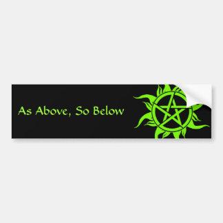 Pagan Pentagram Bumper Sticker