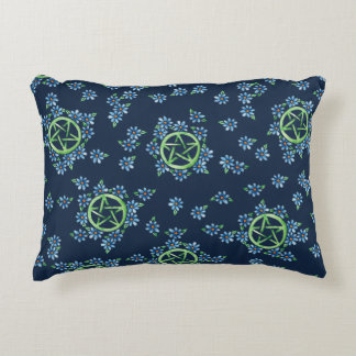 Pagan Pentagram Earth Witch Accent Pillow