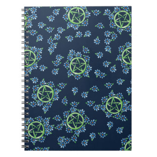 Pagan Pentagram Earth Witch Notebook