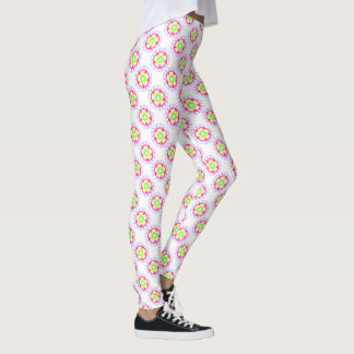 Pagan Pride Rainbow Pentacle Print Leggings