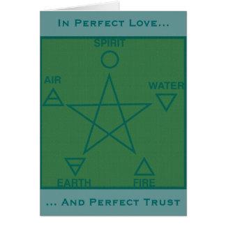 Pagan Rites of Passage Wiccan Circle Card