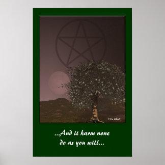 Pagan Symbols Poster