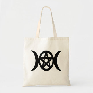Pagan Triple Moon Pentacle Goddess Symbol Tote Bag