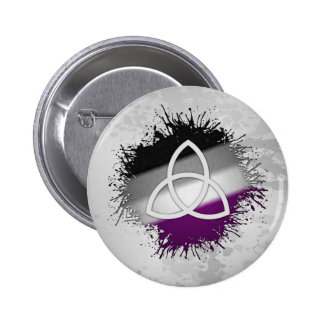 Pagan Triquetra Asexual 2 Inch Round Button