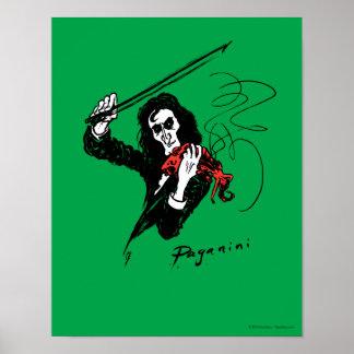 "Paganini with violin poster 11""x14"""