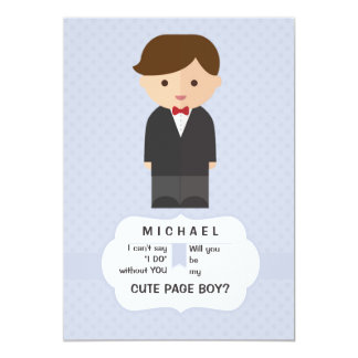 Page Boy Request Card