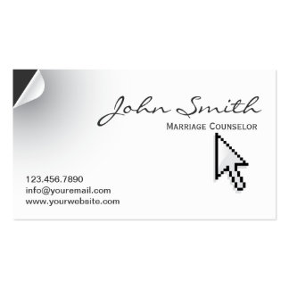 Page Curl Marriage Counseling Business Card