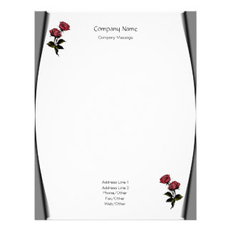 Page Curls Roses Stationery