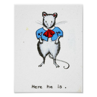 """Page from """"Story of a little gray mouse"""" Poster"""