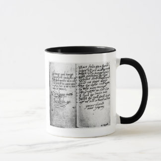 Page of manuscript mug