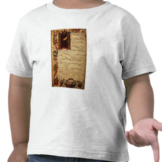 Page of Musical Notation with historiated T Shirts