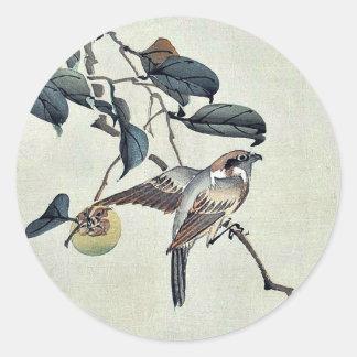 Page ten by Matsumura, Keibun Ukiyo-e. Classic Round Sticker